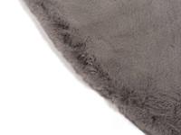 Fay Dunkelgrau – Weicher Runder Kuschelteppich in Dark Grey