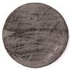 FloorPassion Fay Dunkelgrau – Weicher Runder Kuschelteppich in Dark Grey