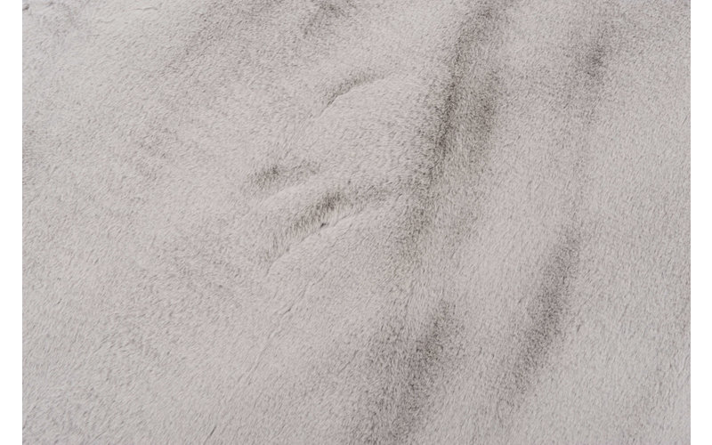 Fay Grau – Weicher Runder Kuschelteppich in Grau