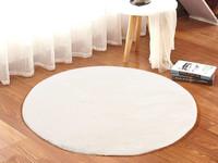 Fay Weiß – Weicher Runder Kuschelteppich in Weiß