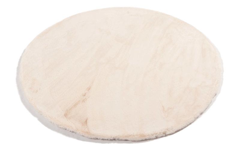 Fay Creme Weiß – Weicher Runder Kuschelteppich in Creme Weiß