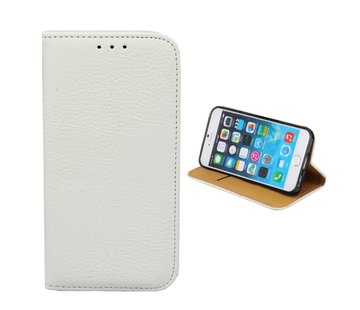 Colorfone iPhone 8 Plus en 7 Plus Leren Hoesje Wit  Bookcase