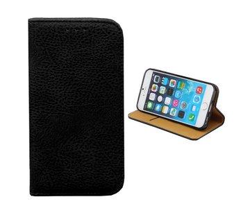 Colorfone iPhone 8 Plus en 7 Plus Leren Hoesje Zwart  Bookcase