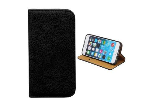 iPhone 8 Plus en 7 Plus Leren Hoesje Zwart  Bookcase