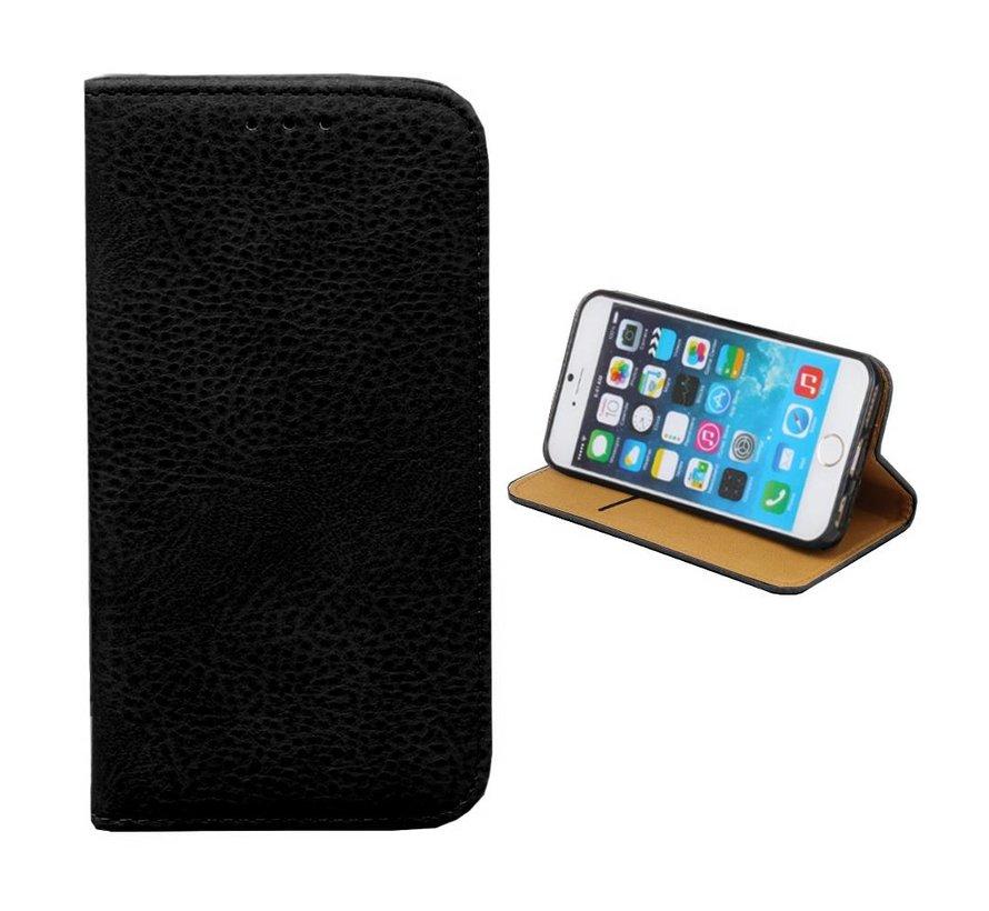 iPhone 8 Plus en 7 Plus Leren Hoesje Zwart - Bookcase
