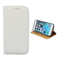 iPhone SE 2020 en 8 en 7 Leren Hoesje Wit - Bookcase