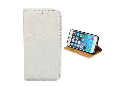 Bookcase PU iPhone SE 2020 - 8 - 7 Wit