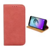 Colorfone Samsung Galaxy J1 Mini Case Pink Leather - Bookcase