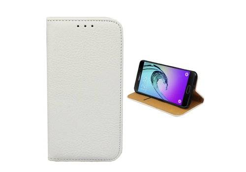 Samsung Galaxy J1 Mini Leren Hoesje Wit  Bookcase