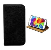 Colorfone Samsung Galaxy J2 and J2 2017 Case Black Leather - Bookcase