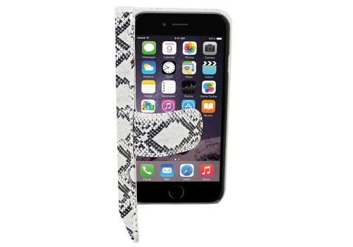 Book1 Case PU iPhone 6 Plus Serpentijn Wit