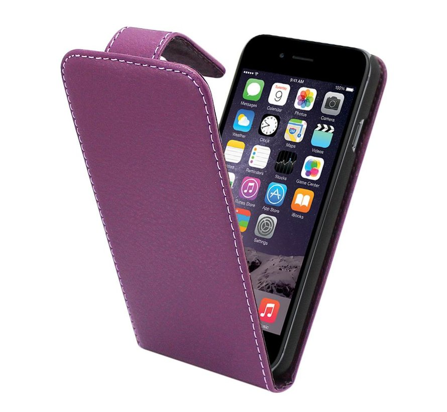 iPhone 6 Flipcover Hoesje Paars - Business Case