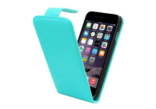 iPhone 6 Flipcover Hoesje Turquoise - Business Case