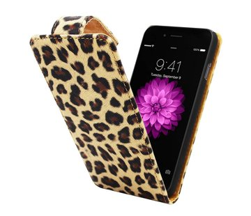 Colorfone iPhone 6 Flipcover Hoesje Luipaard Print - Business Color Case