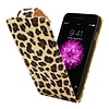 iPhone 6 Plus Flipcover Hoesje Luipaard Print - Business Color Case