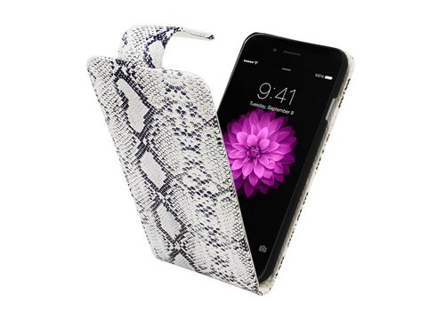 iPhone 6 Plus en 6s Plus Fipcover Hoesje Serpetijn Wit - Business Color Case