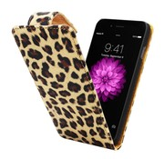 Colorfone iPhone 6 Plus Hoesje Luipaard Print - Flipcover Business Fit Case