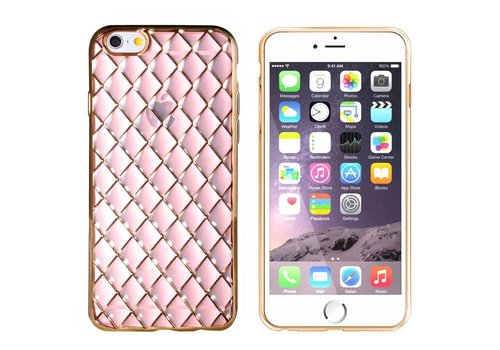 iPhone 6 en 6S Hoesje Goud Roze CoolSkin Diamond