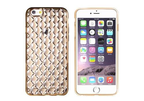 iPhone 6 en 6S Hoesje Goud Zwart CoolSkin Diamond
