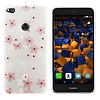 Colorfone CoolSkin Flowers voor Huawei P8 Lite 2017 Roze+Wit