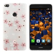Colorfone CoolSkin Flowers Huawei P8 Lite 2017 Roze+Wit