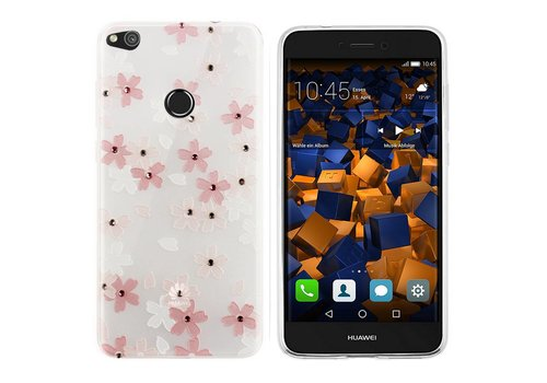 CoolSkin Flowers Huawei P8 Lite 2017 Pink+White