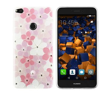 Colorfone CoolSkin Flowers Huawei P8 Lite 2017 Roze+Wit+Paars