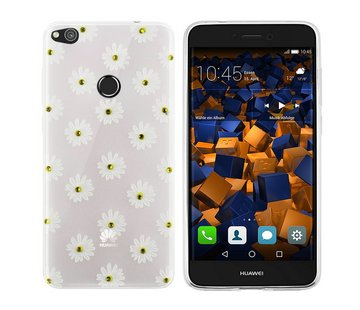 Colorfone CoolSkin Flowers Huawei P8 Lite 2017 Wit