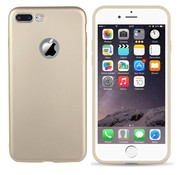 Colorfone iPhone 8 Plus en 7 Plus Hoesje Goud CoolSkin Slim