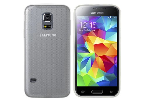 Samsung Galaxy S5 Neo Semi Hoesje Transparant CoolSkin3