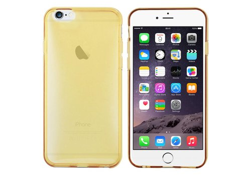 iPhone 6 Hoesje Transparant Goud CoolSkin3T