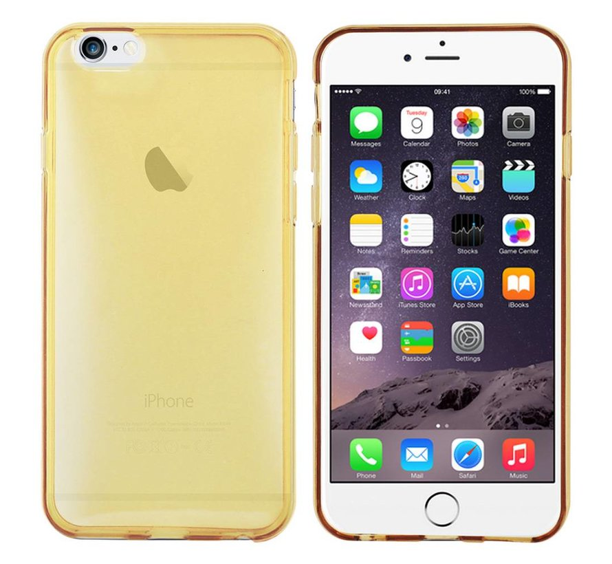 iPhone 6 Hoesje Siliconen Transparant Goud - CoolSkin3T
