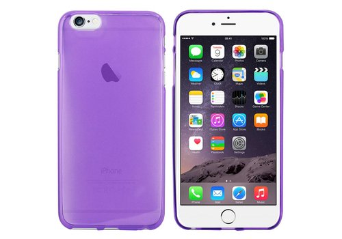iPhone 6 Plus Hoesje Transparant Paars CoolSkin3T