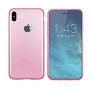 Colorfone iPhone X en Xs Hoesje Transparant Roze CoolSkin3T