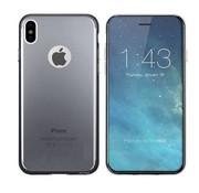 Colorfone iPhone X en Xs Hoesje Transparant Zwart CoolSkin3T