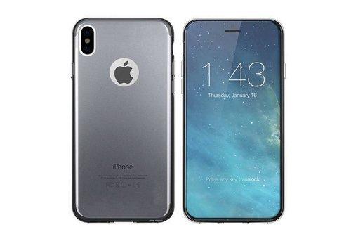 iPhone X en Xs Hoesje Transparant Zwart CoolSkin3T