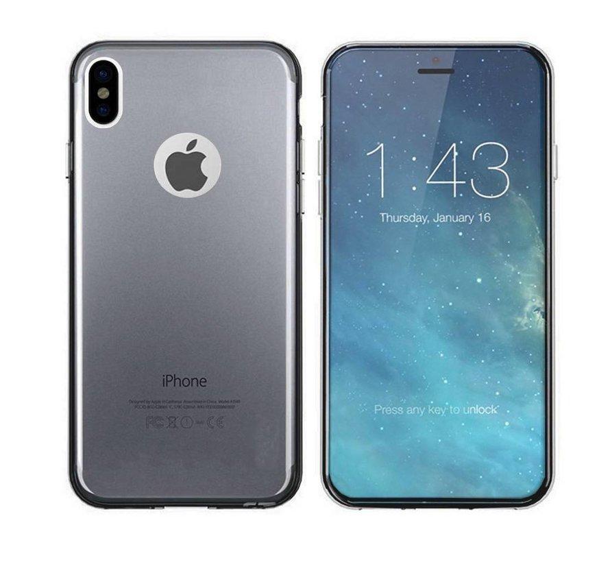 iPhone X en Xs Hoesje Siliconen Transparant Zwart - CoolSkin3T