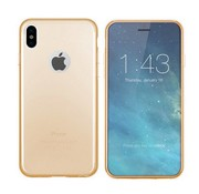 Colorfone iPhone X and Xs Case Gold Transparent - CS3T