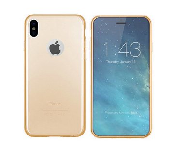Colorfone iPhone X en Xs Hoesje Transparant Goud CoolSkin3T