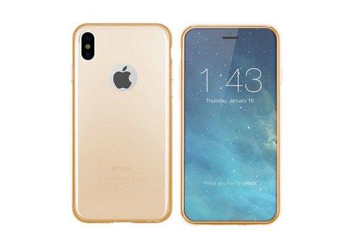 iPhone X en Xs Hoesje Transparant Goud CoolSkin3T