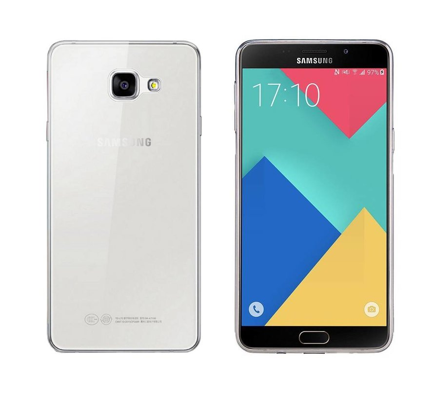 Samsung A9 2016 Hoesje Siliconen Transparant - CoolSkin3T