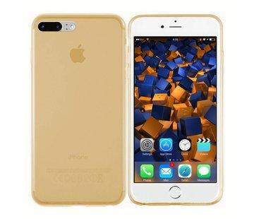 Colorfone iPhone 8 Plus en 7 Plus Hoesje Transparant Goud  CoolSkin3