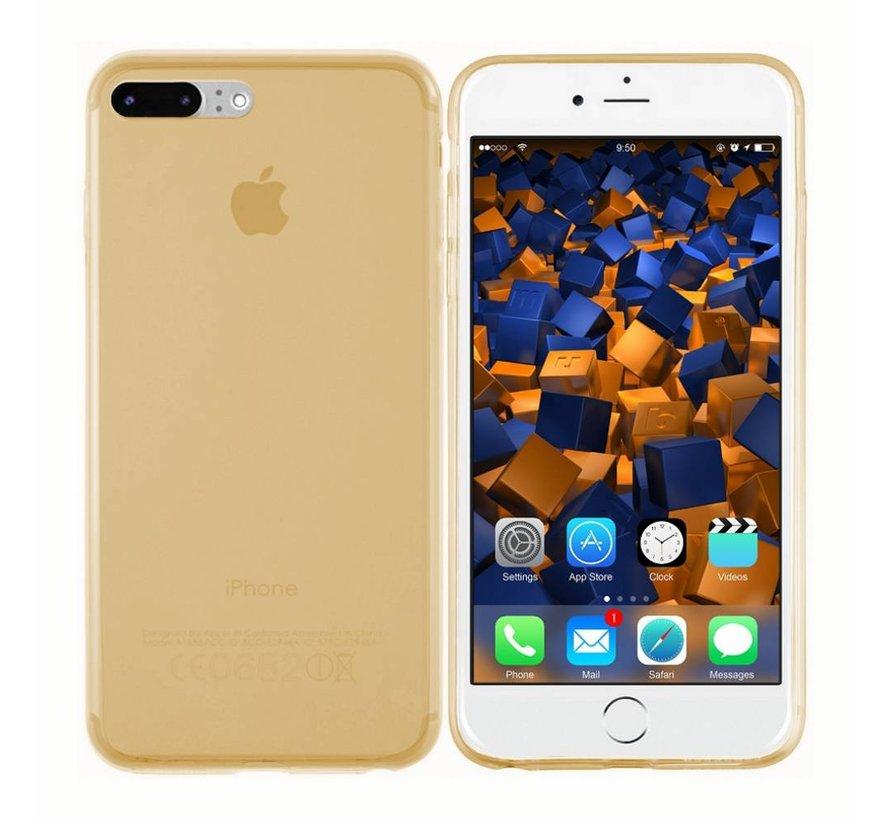 iPhone 8 Plus en 7 Plus Hoesje Siliconen Transparant Goud - CoolSkin3T