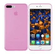 Colorfone iPhone 8 Plus en 7 Plus Hoesje Transparant Roze CoolSkin3T