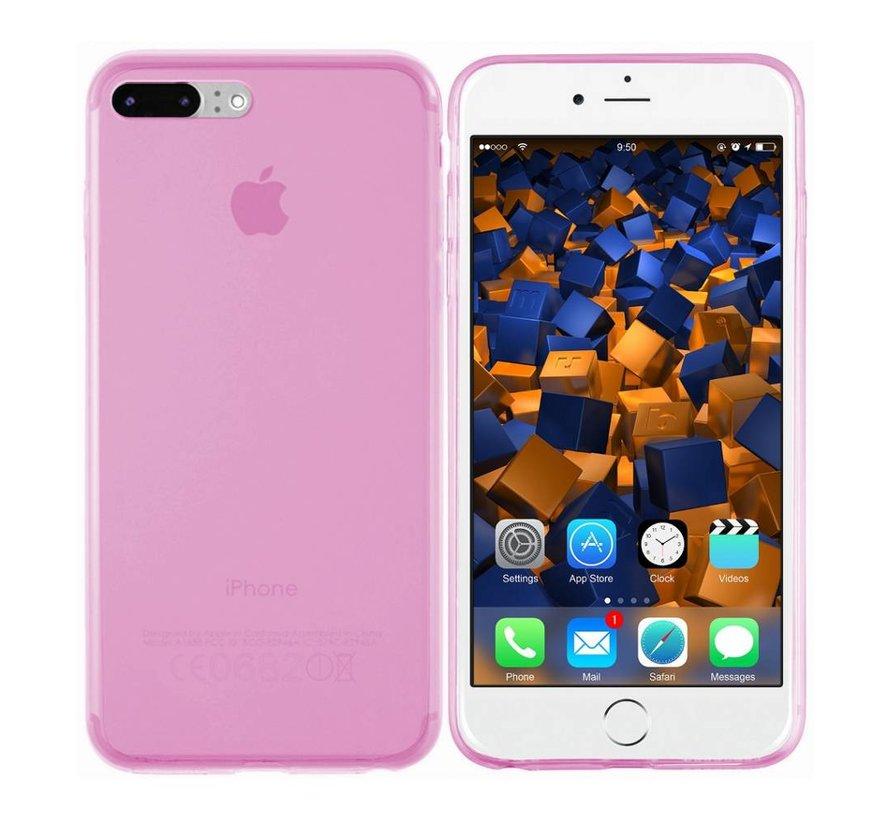 iPhone 8 Plus en 7 Plus Hoesje Siliconen Transparant Roze - CoolSkin3T