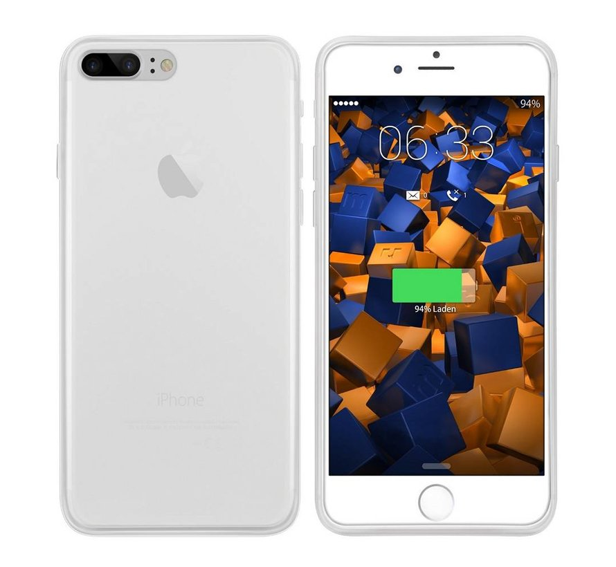 iPhone 8 Plus en 7 Plus Hoesje Siliconen Transparant - CoolSkin3T