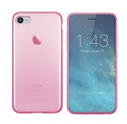 Colorfone iPhone SE 2020 en 8 en 7 Hoesje Transparant Roze CoolSkin3T