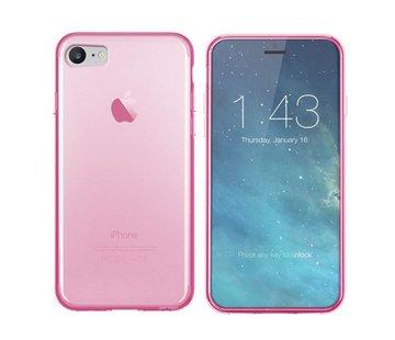 Colorfone iPhone SE 2020 en 8 en 7 Hoesje Transparant Roze CoolSkin3T