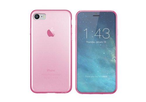 iPhone SE 2020 en 8 en 7 Hoesje Transparant Roze CoolSkin3T