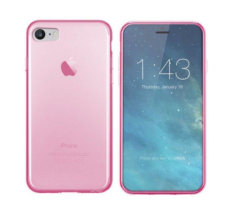 iPhone SE 2020 en 8 en 7 Hoesje Siliconen Transparant Roze - CoolSkin3T